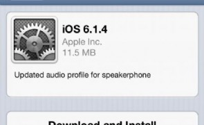 Aggiornamento iOS 6.1.4 di Apple per il suo iPhone 5